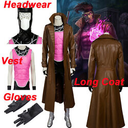 Gambit Remy Cosplay Costume Custom Made Menand039s Outfit Halloween All Size