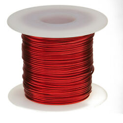 16 Awg Gauge Heavy Copper Magnet Wire 1.0 Lbs 125and039 Length 0.0538 155c Red