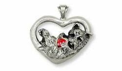 Cairn Terrier Pendant Jewelry Silver And Gold Handmade Dog Pendant CY11-TNSP
