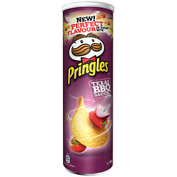 3 X 190g Pringles Chips Texas Bbq Sauce Original From Germany New