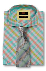 Dress Shirt Only By Sl Trimandclassic Fit Angled French Cuff-multi Color-ta1729-mu