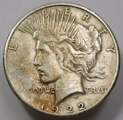 1922-s Vam 10 Ray In Mountain Silver Liberty Peace Dollar 1 Us Coin Item 14450