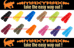 Genuine Maxtrax Safety Recovery Tracks Ramps 4wd 4x4 Sand Mud Snow - Fj Red