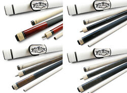 Champion St14 Black/brown/grey/wine Pool Cue Stick With 2 Shafts White Case