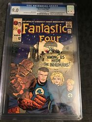 FANTASTIC FOUR #45 CGC 9.0  OW-WHITE 1ST INHUMANS MOVIE TV EXCEPTIONAL KEY ISSUE
