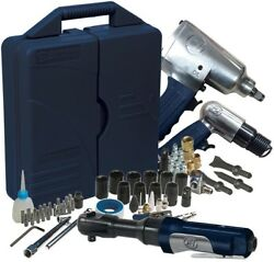 Campbell Hausfeld Air Compressor Tool Kit 62 Piece Wrench Hammer Accessory Set