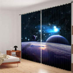 Dreamlike Starry Sky 3d Blockout Photo Curtain Print Curtains Fabric Kids Window