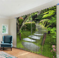 Tree-lined Byway 3d Blockout Photo Curtain Print Curtains Fabric Kids Window