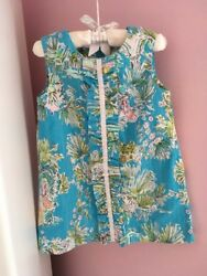 Lilly Pulitzer Jungle Glam Toile Girls size 2 shift - - - Hard to Find print!!