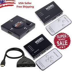 LOT 35 Port 1080P HDMI Selector Switcher Splitter Hub+Remote for PS34 HDTV VIP