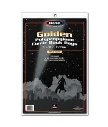 100 Bcw Golden Age Thick Comic Book 2 Mil Acid Free Archival Poly Bags