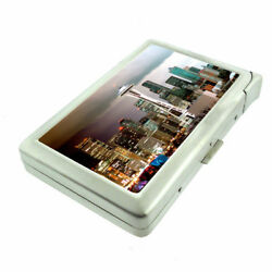 Seattle Space Needle D10 Cigarette Case With Built In Lighter Metal Wallet