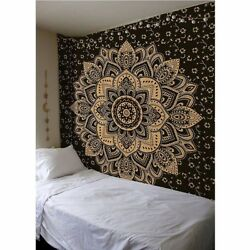Hippie Phychedelic tapestry wall hanging mandala throw blanket