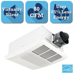 NEW Bath Fan 80-CFM Exhaust Ventilation Heater Light Bathroom Ceiling Heat Quiet
