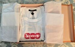 LOUIS VUITTON  SUPREME BOX LOGO WHITE TEE T-SHIRT SIZE 3L 100% AUTH