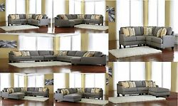 Modern Contemporary Design Chamberly Alloy Finsh (10) Type of Sectional Sofa Set