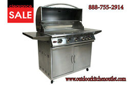 38 Stainless Steel Drop In/ Built In Barbecue Bbq Island Gas Grill Head Outdoor