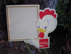 RARE VINTAGE ENJOY COCA COLA COKE CHICKEN MENU OR SIGN