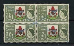 Bermuda One Pound Block Of Four Cancelled 162 Cat Value 104
