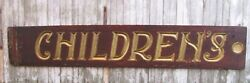 Vintage Carved Painted Children's Sign From Sears Department Store Can Ship