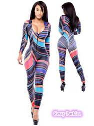 Women#x27;s Rainbow Jumpsuit 80#x27;s Costume Accessories