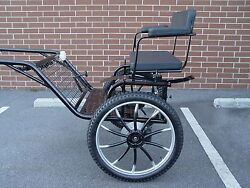 2 Wheel Horse Carriageor Pony Buggy, 49 Wide Wheel Size 25 Color Navy