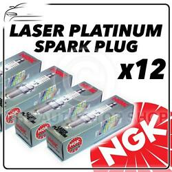 12x Ngk Spark Plugs Part Number Pfr6g-11 Stock No. 5555 New Platinum Sparkplugs