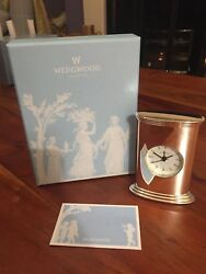 Wedgwood Silver Plated Oval Clock - Brand New In Box