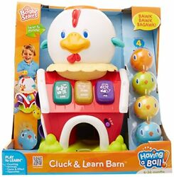 Vintage Collectible Bright Starts Cluck And Learn Barn Having A Ball - 9105nib