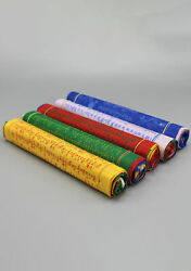 High Quality Large Cotton Prayer Flags 5 Rolls Of Large Flags Buddhist Flags