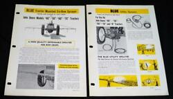 John Blue Company Farm Tractor Sprayers Advertising Sales Brochure Vintage