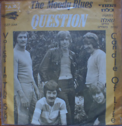 THE MOODY BLUES- question+2-rare 1970 israel only 1 st pressing 7
