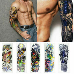5 Sheets Full Arm Leg Temporary Waterproof Tattoos Art Stickers Removable sleeve