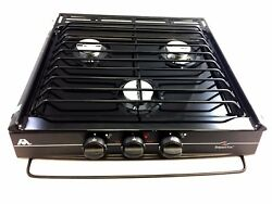 Atwood Mobile Products 52180 Wedgewood Black High Output Slide-In 3 Burner