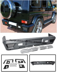 G63 G65 AMG Style Rear Replacement Lower Bumper Cover For 02-Up W463 G-Class PDC