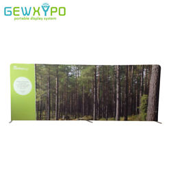 20ft8ft Straight Tension Fabric Advertising Display With One Side Banner Print