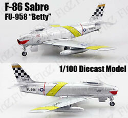 Us Air Force F-86 Sabre Tiger Mouth 1100 Diecast Aircraft Plane Atlas Jet Model