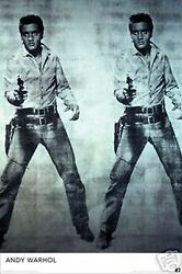 Elvis Presley Poster Print Twins Images With Gun By Andy Warhol 24x36 New