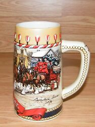Genuine Budweiser 1986 Hand Crafted B Series Collectible Beer Stein / Mug Only