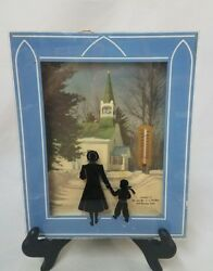 Vintage Shadowbox By The Vernon Company Iowa With Thermometer