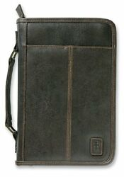 Aviator Leather Look Brown Large Bible Cover By Zondervan Brand New