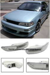 Front Bumper Clear Lens Signal Lights Lamps PAIR For 93-97 Toyota Corolla E100