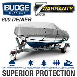 Budge 600 Denier Waterproof Boat Cover   Fits Center Console V-hull   5 Sizes