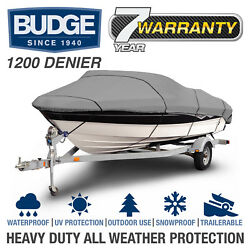 Budge 1200 Denier Waterproof Boat Cover   Fits Center Console Deck   5 Sizes