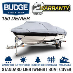Budge 150 Denier Boat Cover | Fits V-hull Fishing Boats | 6 Sizes Available