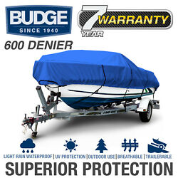 Budge 600 Denier Boat Cover | Fits V-hull Fishing Boats | 12 Colors And Sizes