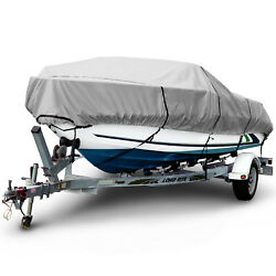 Boat Cover 1200d Waterproof V-hull Center Console Boat Beam Width 106 16'-26' L