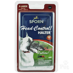 Sporn Head Halter Harness Gentle Leader Lead Stop your dog or puppy from pulling