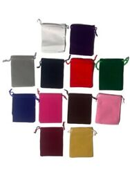 10 PACK VELVET BAGS 4quot; x 3.5quot; plush party favor wedding gift jewelry pouch $7.00