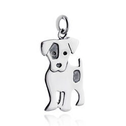 Jack Russell Terrier Dog Pendant - 925 Sterling Silver - Charm Pet Love Gift